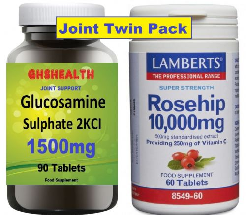 Rosehip 10,000 60 Tabs + Glucosamine Sulphate 1500mg 90s Twin Pack Offer